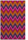 rug #690993    red-orange stripes rug
