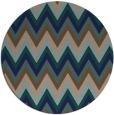 rug #691113 | round blue stripes rug