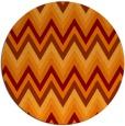 rug #691269 | round red-orange stripes rug
