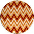 rug #691273 | round orange stripes rug