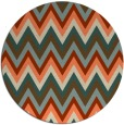 rug #691277 | round orange stripes rug