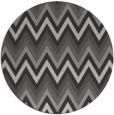 rug #691281   round red-orange stripes rug