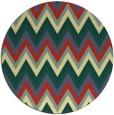 rug #691285 | round yellow stripes rug