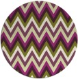rug #691309 | round green stripes rug