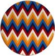 rug #691321 | round red stripes rug