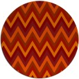 rug #691325 | round red rug