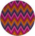 rug #691345   round red-orange stripes rug