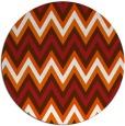 rug #691349 | round red-orange stripes rug
