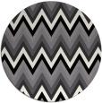 rug #691353   round white stripes rug