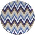 rug #691361 | round white stripes rug