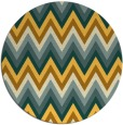 rug #691385 | round light-orange stripes rug