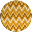 rug #691417 | round light-orange stripes rug