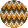 rug #691425 | round light-orange stripes rug