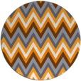 rug #691429 | round light-orange stripes rug