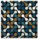 rug #691805 | square black circles rug