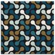 rug #691805 | square brown circles rug