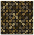 rug #691901 | square mid-brown circles rug