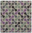 rug #691965 | square purple circles rug