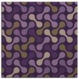 rug #692017 | square purple circles rug