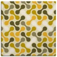 rug #692073 | square yellow circles rug