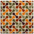 rug #692101 | square orange circles rug