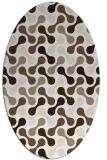 rug #692137 | oval beige circles rug