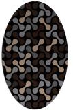 rug #692149 | oval beige circles rug