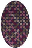 rug #692245 | oval blue-violet circles rug