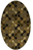 rug #692255 | oval retro rug