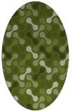 rug #692261 | oval green circles rug