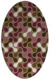 rug #692289 | oval mid-brown retro rug