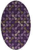 rug #692369   oval purple retro rug