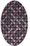 rug #692373 | oval purple circles rug