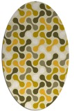 rug #692425 | oval yellow retro rug
