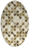 rug #692429 | oval yellow circles rug