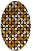 rug #692436 | oval retro rug