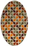 rug #692453 | oval orange circles rug