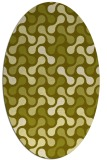 rug #692457 | oval light-green circles rug