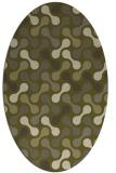 rug #692469 | oval light-green rug