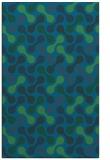 rug #692569 |  blue circles rug