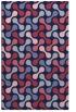 rug #692581 |  blue-violet circles rug