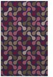 rug #692597 |  blue-violet circles rug