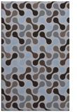 rug #692601    blue-violet circles rug