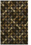 rug #692605 |  mid-brown retro rug