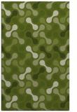 rug #692613 |  green retro rug