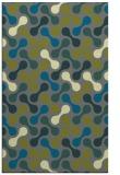 rug #692617    green circles rug