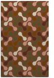 rug #692633 |  brown circles rug