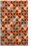 rug #692685 |  orange retro rug