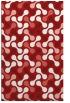 rug #692737 |  red retro rug