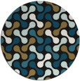 rug #692861   round brown retro rug